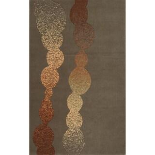 Soho Modern Power-Loomed Grey Wool Rug (2' x 3')