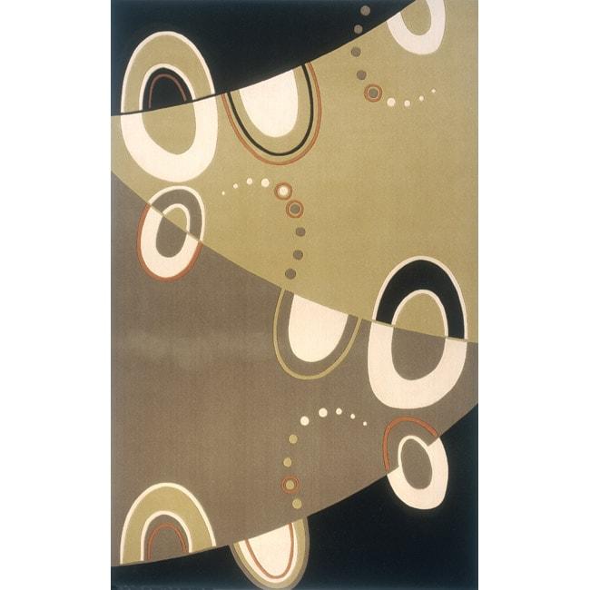 Soho Abstract Power-Loomed Multi Wool Rug (5' x 8')