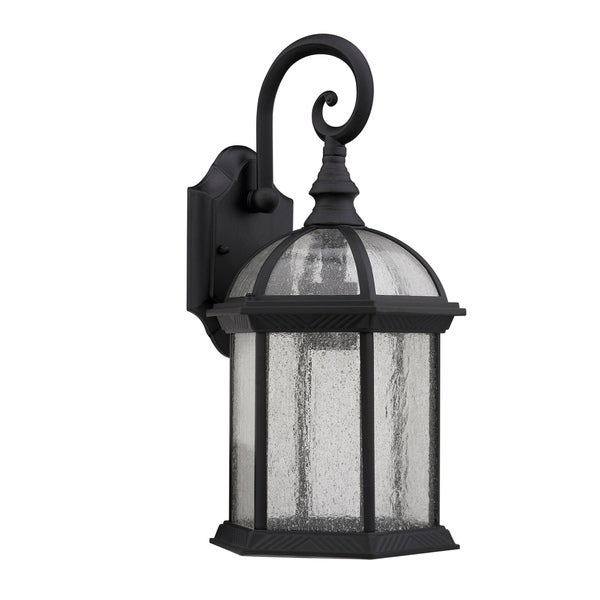 Chloe Transitional 1-light Black Outdoor Glass Wall Fixture