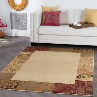 Alise Rhythm Beige Transitional Area Rug (5' x 7') - 5' x 7'