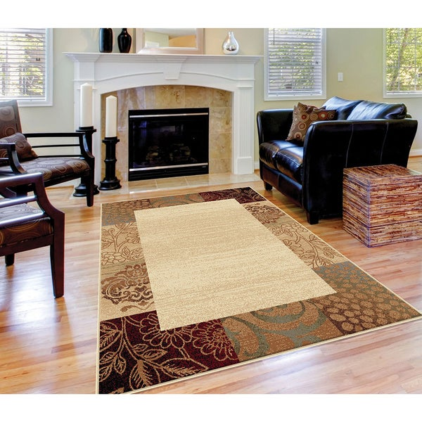 Alise Rhythm Beige Transitional Area Rug 5 X 7 Free