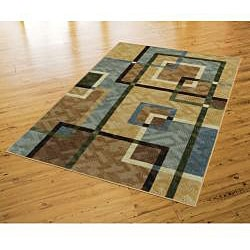 Mohawk Home Connexus Overlapping Squares Blue (5' x 8')