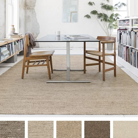 Hand-woven Cape Cod Wool/ Cotton Rug
