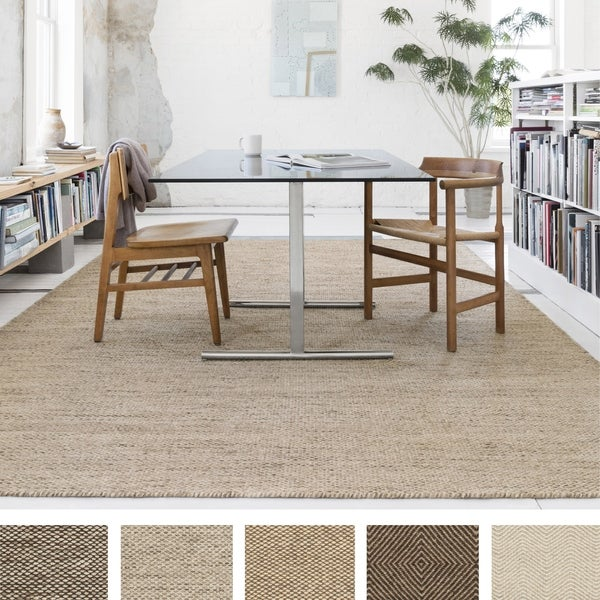 Hand-woven Cape Cod Wool/ Cotton Rug - 7'10 x 11'