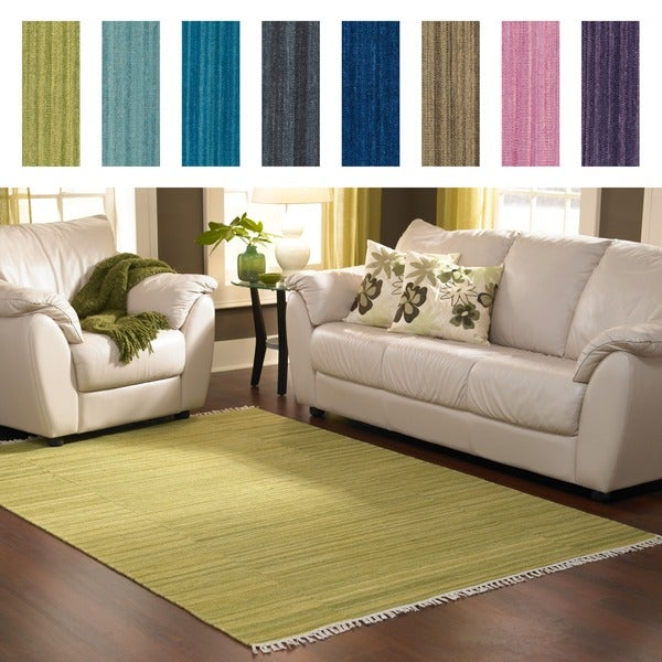 Hand-woven Fleur Wool Rug (5'0 x 7'6) - 5' x 7'6
