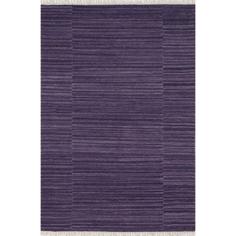 Hand-woven Fleur Wool Rug (5'0 x 7'6)
