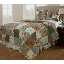 Naomi Patchwork Cotton 2-piece Quilt Set