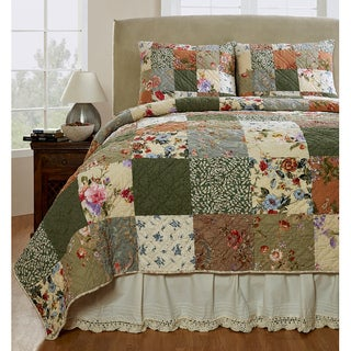 Gracewood Hollow Austen Patchwork Cotton 2-piece Quilt Set