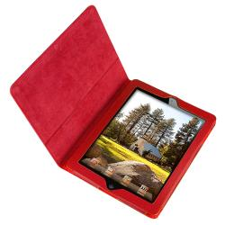 Crystal Case/ Red Leather Case for Apple iPad 2/ 3/ New iPad - Thumbnail 1