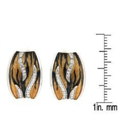 Pearlz Ocean Animal Print endless clasps with White Topaz Accents - Thumbnail 2
