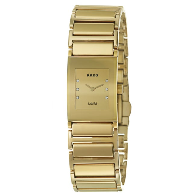 Rado Women's 'Integral' Gold-plated Steel Watch
