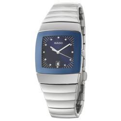 Rado Women's 'Sintra' Ceramic Swiss Watch with Blue Dial