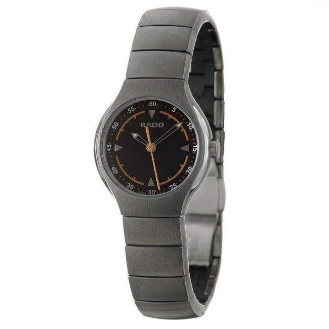 Rado Women's 'Rado True' Black-Dial Ceramic Swiss Watch