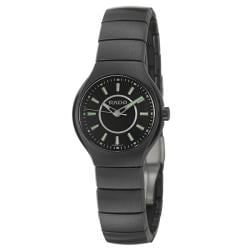 Rado Women's 'Rado True' Black Ceramic Swiss Watch