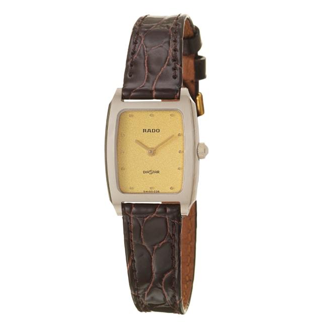 Rado Women's 'Diastar' Stainless Steel Swiss Watch