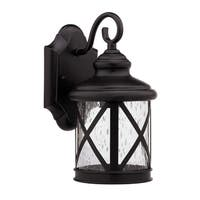 Transitional 1-light Rubbed Dark Bronze Outdoor Wall Light