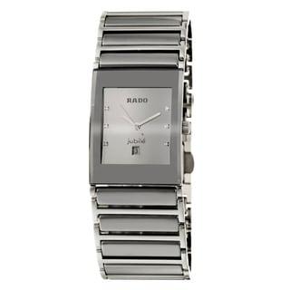Rado Men's 'Integral' Silver-Dial Stainless-Steel Swiss Watch