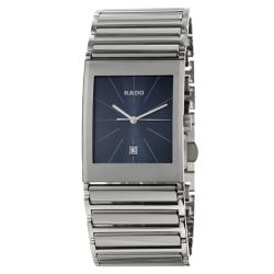 Rado Men's 'Integral' Blue-Dial Stainless-Steel Swiss Watch