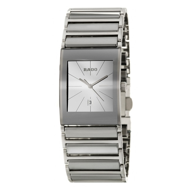 Rado Men's 'Integral' Silvertone-Hands Stainless-Steel Swiss Watch