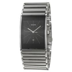 Rado Men's 'Integral' Stainless-Steel Black-Dial Watch