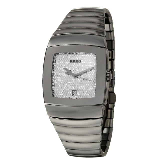Rado Men's 'Sintra' Silvertone Ceramic Swiss Quartz Watch