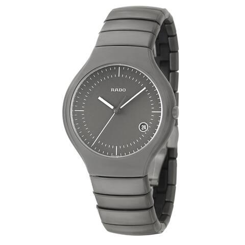 Rado Men's 'Rado True' Gray Ceramic Swiss Watch