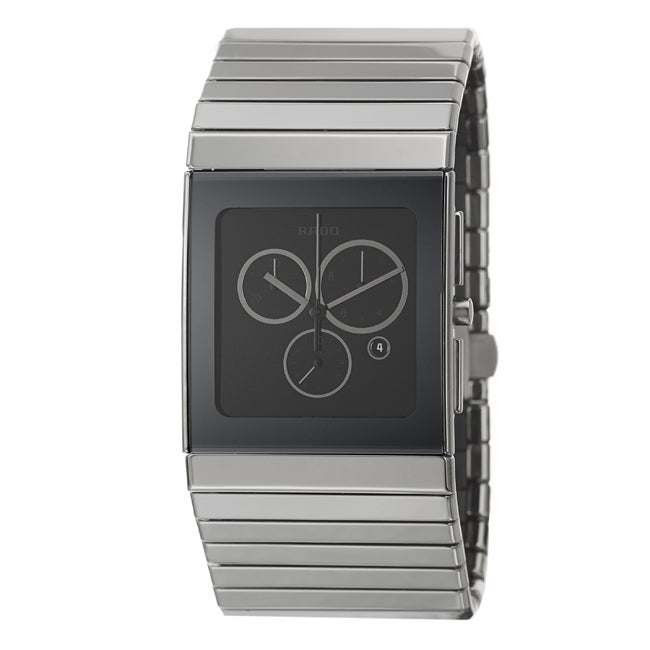 Rado Men's 'Ceramica' Black Ceramic Swiss Watch