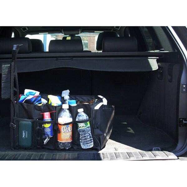 Car Trunk Storage Foldable Portable Black Cargo Organizer