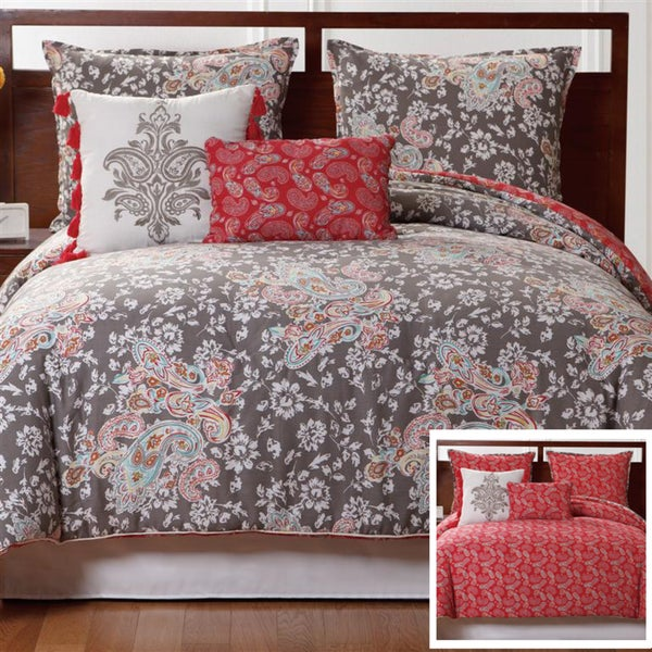 VCNY Capri 5-piece Duvet Cover Set - Pink