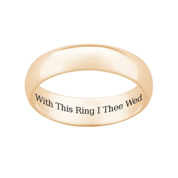 18k gold over sterling silver with this ring i thee wed - With This Ring I Thee Wed