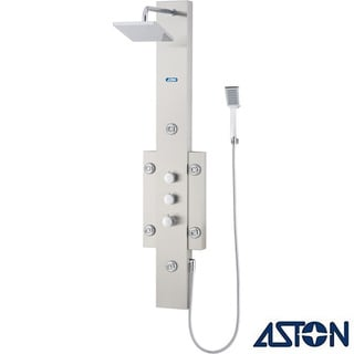 Aston 55-in Stainless Steel 6-Jet Multifunction Massaging Luxury Shower Panel Tower