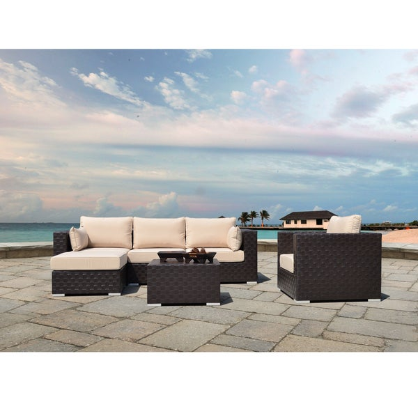 Corvus Palermo 6-piece Modular Seating with Sunbrella Fabric Cushions