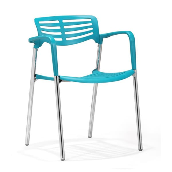 Zuo Scope Blue Plastic 15-inch Seat Height Dining Chairs (Set of 4)