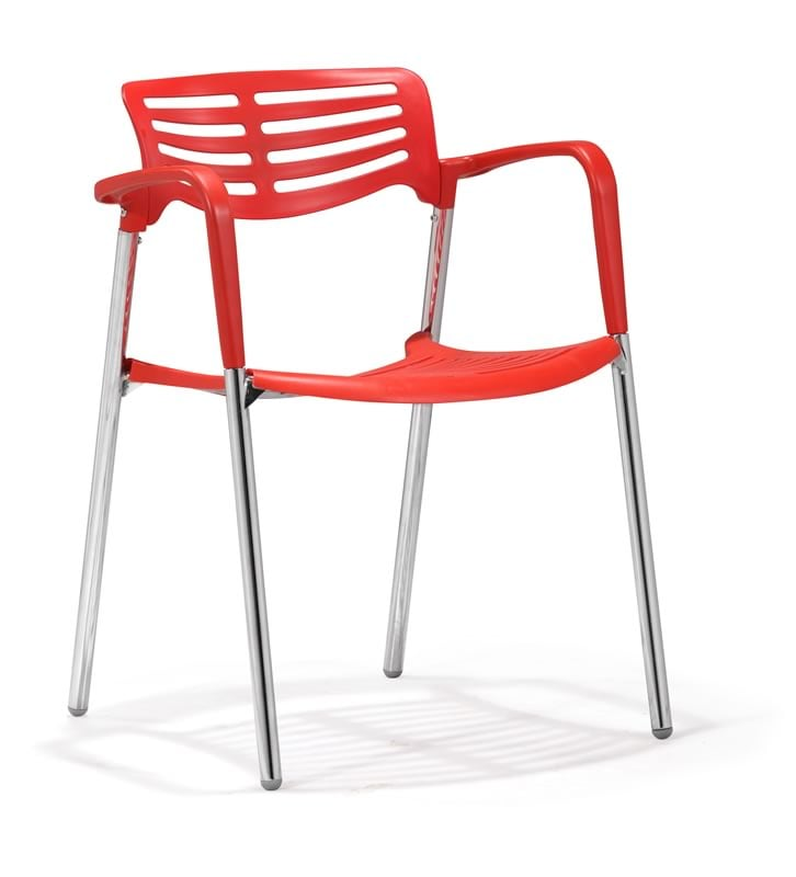 Zuo Scope Red Dining Chairs (Set of 4)