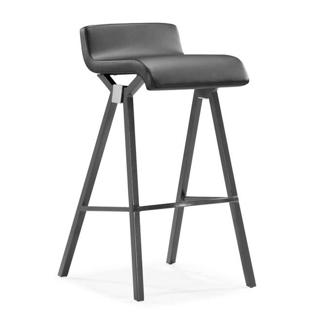 Zuo Xert Grey Bar Chairs (Set of 2)