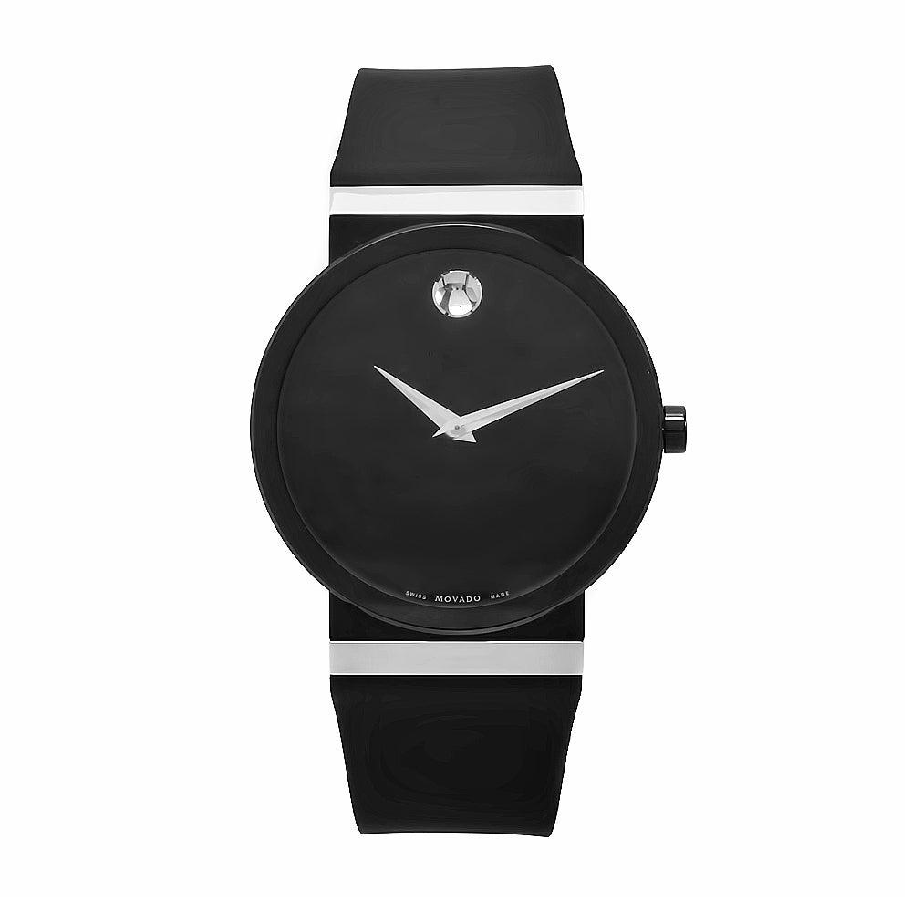Movado Women's Synergy Black Rubber Watch