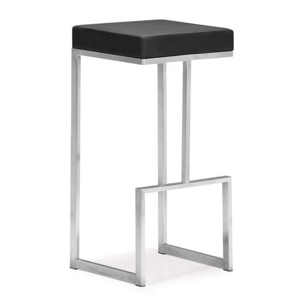 Shop Zuo Darwen Black 30 Inch High Seat Bar Chairs Set Of