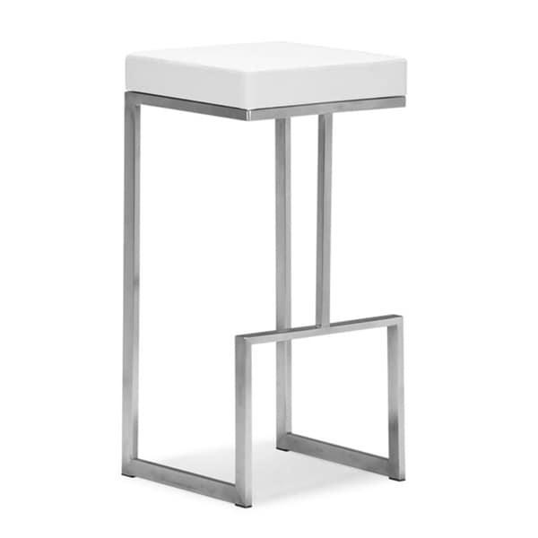 Zuo Darwen White Bar Chairs (Set of 2)
