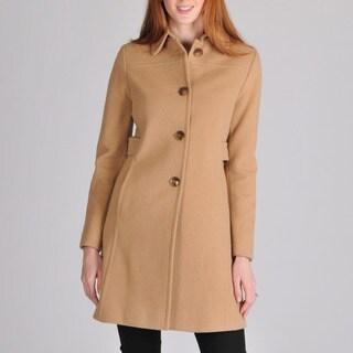 Larry Levine Women's Wool-Camelhair Walking Coat