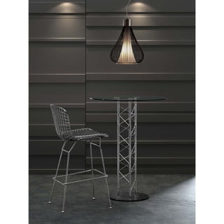 Zuo Wire Chrome Bar Chairs (Set of 2)