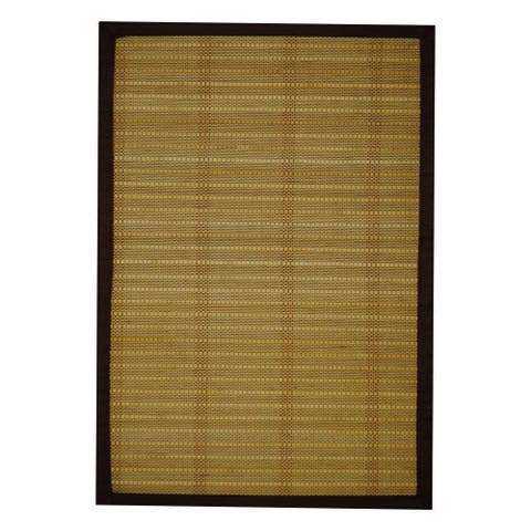 Handmade Beige Natural Rayon from Bamboo Rug - 1'8 x 2'8