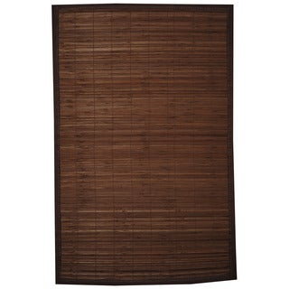 Asian Hand-woven Beige Rayon from Bamboo Rug (1'8 x 2'8)