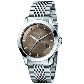 Gucci Men's Timeless Brown Dial Steel Watch|https://ak1.ostkcdn.com/images/products/6975472/P14487915.jpeg?impolicy=medium