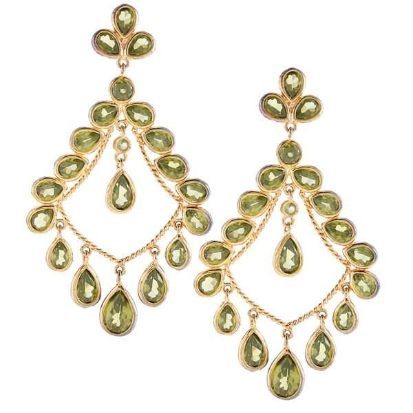 Amrita Singh Goldtone Crystal Chandelier Earrings