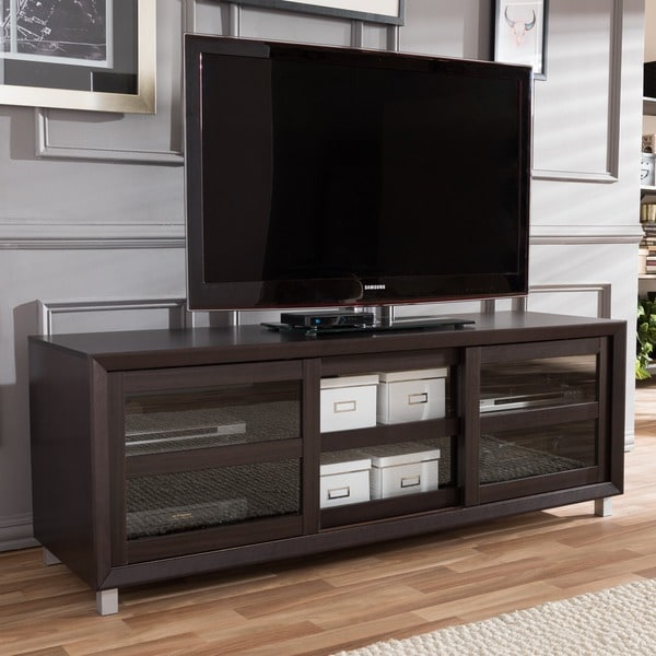 Shop Pacini Dark Brown Tv Cabinet Free Shipping Today