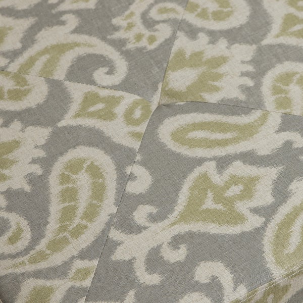Andrea Light Grey Printed Fabric Storage Ottoman by Christopher Knight Home