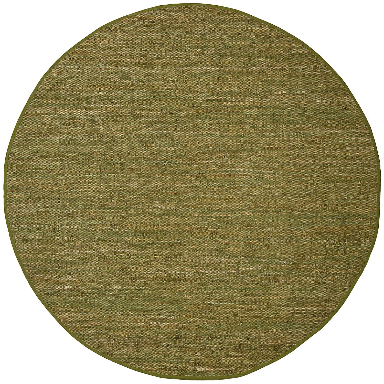 Hand Woven Matador Green Leather (8' x 8' Round)