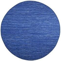 Hand Woven Matador Blue Leather (8' x 8' Round)