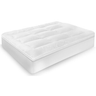 SwissLux Classic Cotton 3-Inch Down Alternative Fiber Bed Topper
