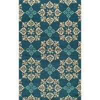 Momeni Veranda Blue Pool Tile Indoor/Outdoor Rug - 2' x 3'